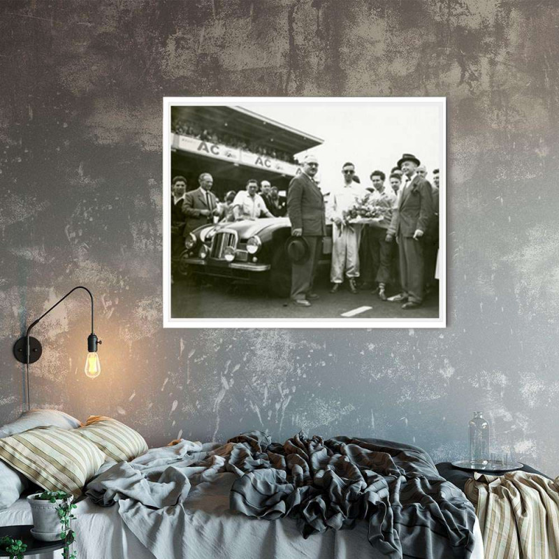 Framed Drawing Porsche 962 198