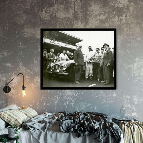 Framed Drawing Jaguar Type D 1