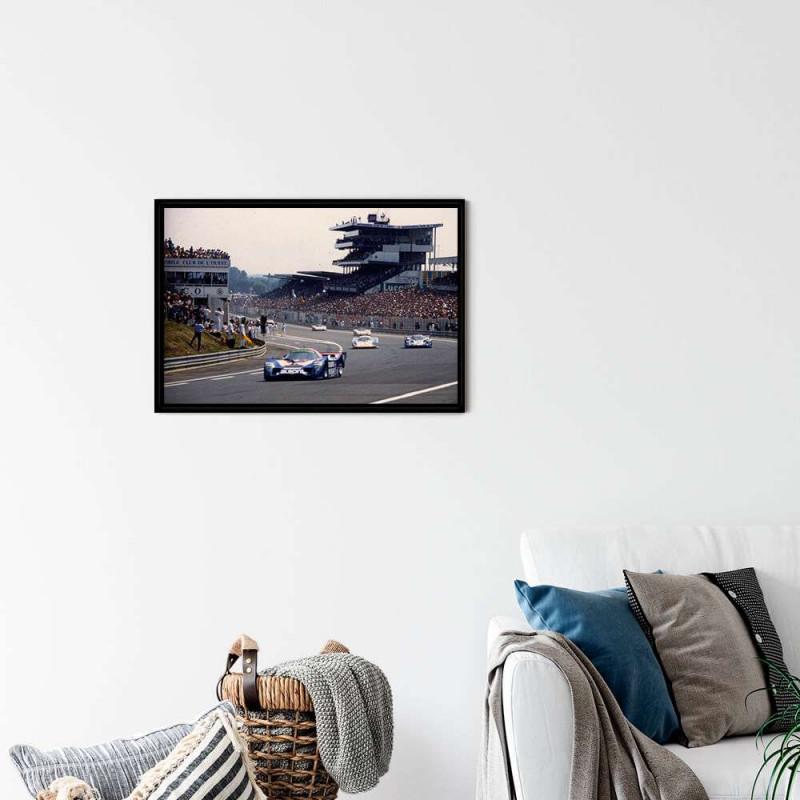 Framed Drawing Porsche 917 197 Martini Racing