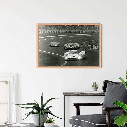 Plaque Aluminium Porsche 917 Rouge