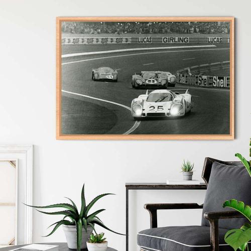 Plaque Aluminium Porsche 917 1971 Cochon Rose