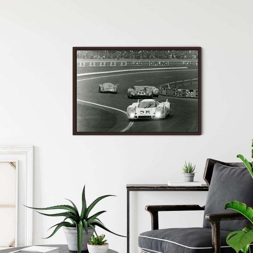 Plaque Aluminium Ford Gt40   1969