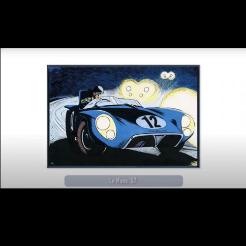 Cadre 50x50 Ferrari 1966