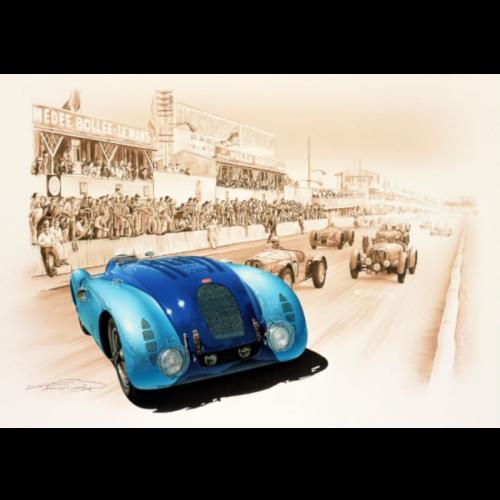 T-shirt Homme Logo Vertical Bleu/jaune