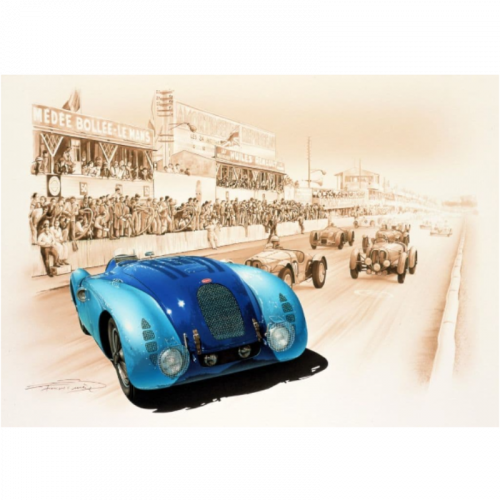 Men's Vertical Logo T-shirt Blue/yellow